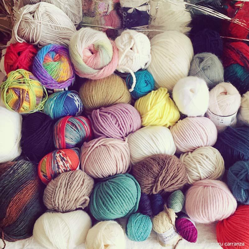 Wool Wolle Lana Laine - WEAVING IN BERLIN - LOOM - WEBEN - TAPESTRY